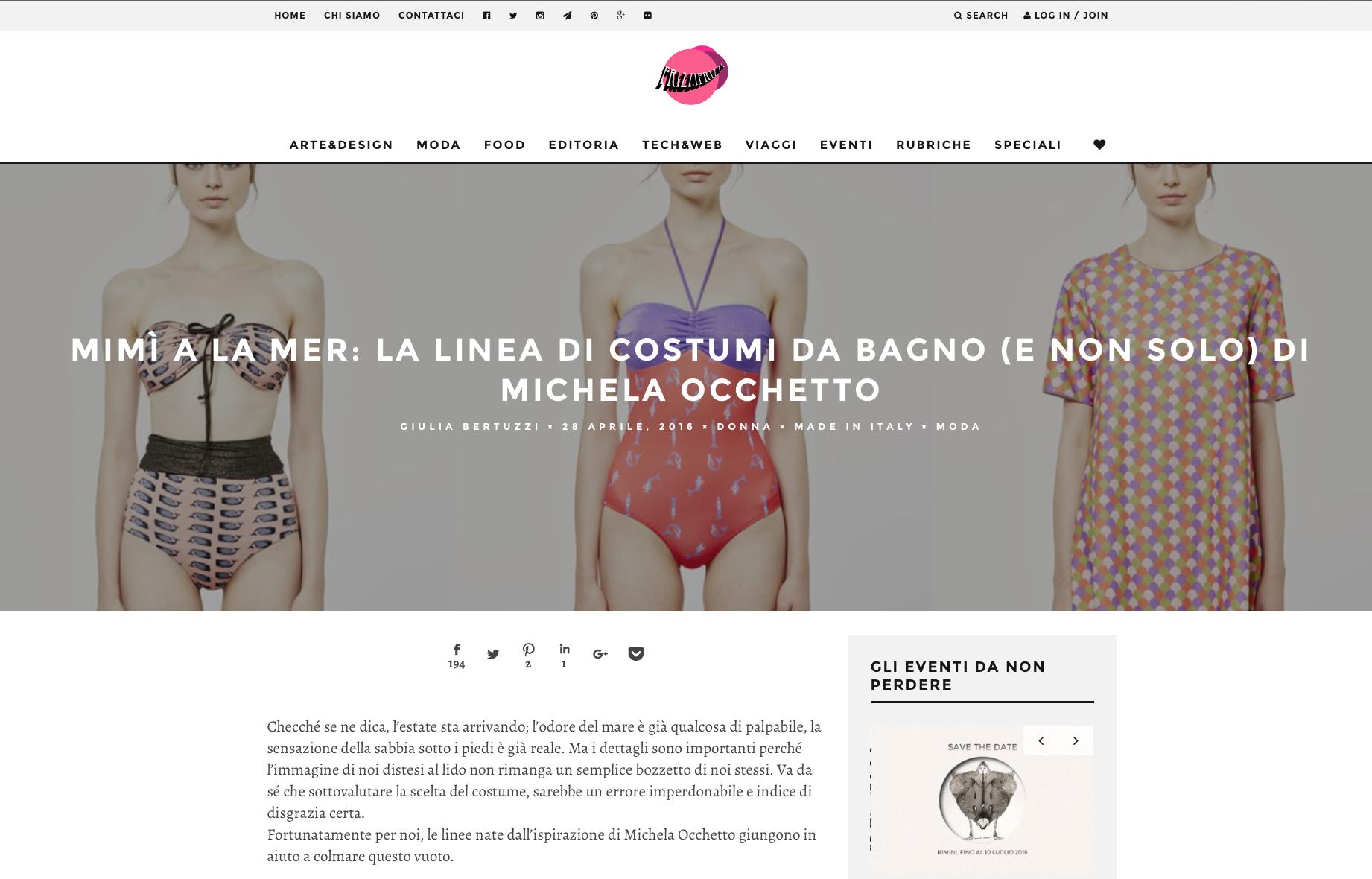Mimì a la mer: la linea di costumi da bagno (e non solo) di Michela Occhetto | FrizziFrizzi